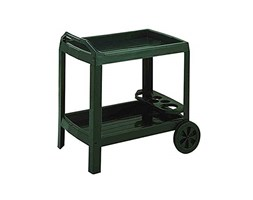 Dmora Carrello portavivande con Ruote, Made in Italy, 53 x 74 x 73 cm, Color Verde Nero