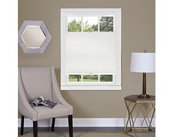 """Achim Home Furnishings Top-Down Cordless Honeycomb Cellular Pleated Shade, 31 by 64"""", White"""