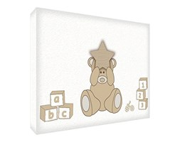 Feel Good Art BEARHEARTA5BLK-01IT Token Decorativo in Acrilico, Levigatura a Diamante, Spessore 20 mm, Disegno Felice Orsacchiotto, Beige, Grande, 21x14x2 cm