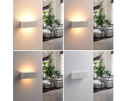 Applique a led ovale judie con dimmer zona giorno led argento