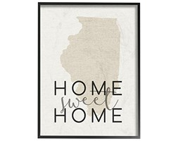 """Stupell Industries """"Home Sweet Home Illinois Typography Oversized Framed Giclee Testurizzato Art,, 16x 1.5x 50,8cm"""