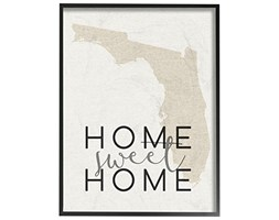 "Stupell Industries ""Home Sweet Home Typography Oversized pronta Testurizzato Art Florida,, 16 x 1.5 x 50,8 cm"