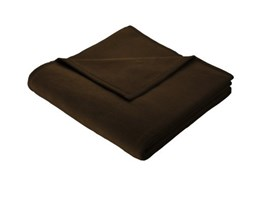 Bocasa Orion Cotton Coperta, 150 x 200 cm, Marrone Scuro