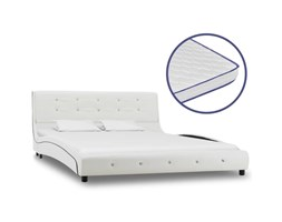 YOUTHUP Letto con Materasso Memory Foam Bianco in Similpelle 140x200 cm - Bianco