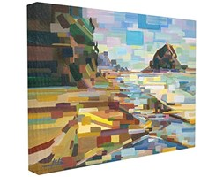 Stupell Industries Geometrico Downeast Costa rocciosa XXL Stretched Wall Art, Proudly Made in USA, Tela, 76.2x 3.81x 101.6cm