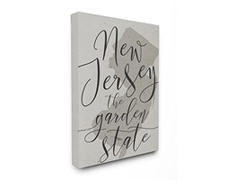 Stupell Industries New Jersey Garden State XXL Stretched Wall Art, Proudly Made in USA, Tela,, 76.2x 3.81x 101.6cm