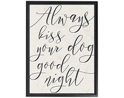 Stupell Industries Always Kiss Your Dog Goodnight Tan Oversize Framed Giclee Testurizzato Art, Legno,, 40.64 x 3.81 x 50.8 cm