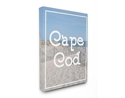 Stupell Industries Cape cod Typography Vintage XXL da Spiaggia Wall Art, Proudly Made in USA, Tela,, 76.2x 3.81x 101.6cm