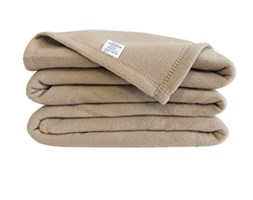 Poyet Motte poleco Coperta in Pile Poliestere Sabbia, Poliestere, Beige, 260 x 240 cm Poliestere Coperta double face