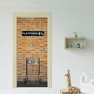 Wallflexi Porta murale Kings Cross Platform 9.75 Home Decorazione da ...