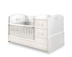 Baby bed for baby or girl bedroom - and two shelves Grigio
