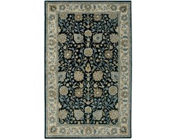 Rizzy Home BL3136 Bentley Hand-Tufted Area rug, 2-Feet by 3-Feet, Tradizionale, Blu/Avorio Nero
