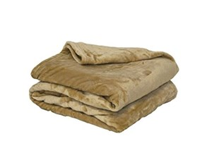 Poyet Motte microflanelle Cover Poliestere Beige, Poliestere, Beige, 240 x 220 cm Poliestere