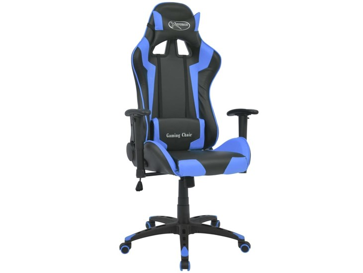 Sedia Da Ufficio Racing.Vidaxl Sedia Da Ufficio Racing Reclinabile In Pelle Sintetica Blu Sedia Gaming Sedia Reclinabile