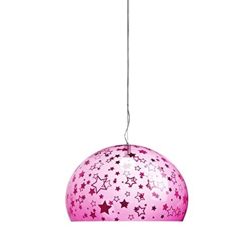 Kartell Lampada a Sospensione, Stelle, 52x33x46/241, led, plastica;pmma LED  Rosa Lampada a sospensione
