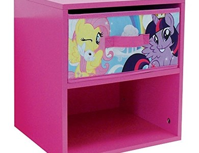 FUN HOUSE 712522 My Little Pony Comodino con cassetto per Bambino MDF 33 x 30 x 36 cm