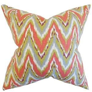 c7e99c0f24 The Pillow Collection Matisse zigzag cuscino corallo, arancione ...
