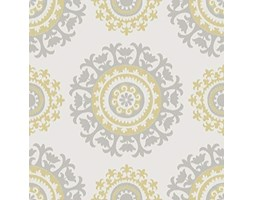 "NuWallpaper "", colore: grigio e giallo Suzani Peel and Stick-Carta da parati"