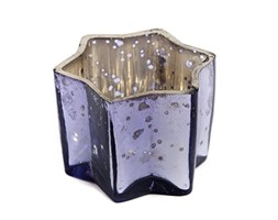 Insideretail Wedding Teal ight Holders, Vetro, Lilac, 7 x 7 x 7 cm, 48 unità Grigio