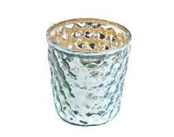 Insideretail Wedding Teal ight Holders Light, vetro, blu, 7 x 7 x 7 cm, 48 unità