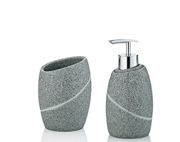 Accessori Bagno Marrone : Kela 390134 bagno valura 3 teilig in poli marrone set accessori