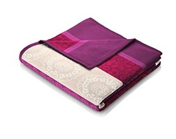 Bocasa Orion Cotton Coperta, 150 x 200 cm, Covered in Red Rosa