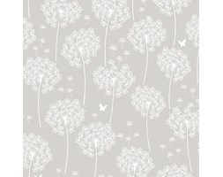 NuWallpaper dente di leone, colore: grigio talpa Peel and Stick-Carta da parati