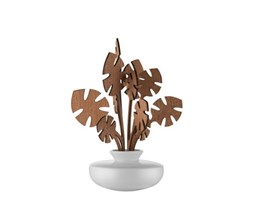 Diffusore d'essenze The Five Seasons - / Porcellana - H 22,5 cm di Alessi - Bianco,Legno naturale - Ceramica Bianco