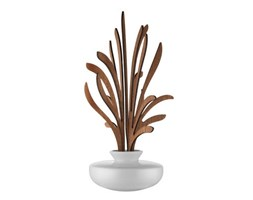 Diffusore d'essenze The Five Seasons - / Porcellana - H 22,5 cm di Alessi - Bianco,Legno naturale - Ceramica