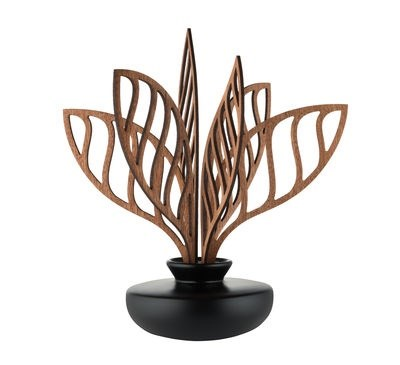 Diffusore d'essenze The Five Seasons - / Porcellana - H 22,5 cm di Alessi - Nero,Legno naturale - Ceramica