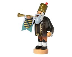 KWO Olbernhau 21185 Incense Smoker Miner with Trumpet, 20 cm