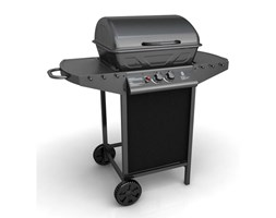 vidaXL Griglia Barbecue a Gas con 2 Bruciatori Nero Barbecue a gas