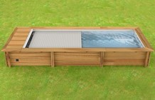 Piscina In Legno Naturalwood Urban - 6,02 X 2,50 X H 1,33 M - Kit Standard
