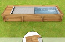 Piscina In Legno Naturalwood Urban - 6,02 X 2,50 X H 1,33 M - Kit Easy