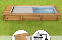 Piscina In Legno Naturalwood Urban - 6,02 X 2,50 X H 1,33 M - Kit Pro