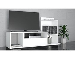 THETA DESIGN by Homemania, Sumatra, Porta TV, Bianco, 125 x 42.5 x 11.5 cm Grigio Design